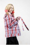 BRIANNA JACKET RED CHECKS