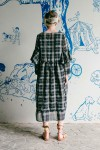 TARA DRESS NAVY CHECKS