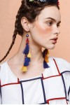 CELIA EARRINGS YELLOW NAVY