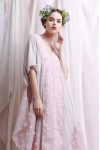 CHRISSY DRESS CREAM / PINK
