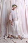 AMANI DRESS WHITE / LIGHT GREY