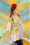 IRENA TOP YELLOW FLOWER