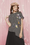 ANDRO TOP BLACK STRIPES