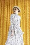 QUIN DRESS WHITE CHECK