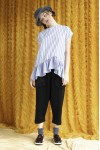 AMARA TOP LIGHT GREY STRIPES