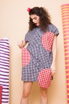 DOTTY DRESS BLACK CHECKS