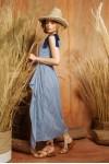 ADELE DRESS BLUE STRIPES