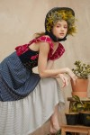 KALIA DRESS RED/ NAVY
