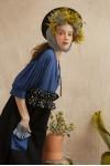 HALIA DRESS BLUE/ BLACK
