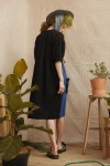 HALIA DRESS BLACK / BLUE