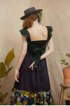 KALIA DRESS BLACK/ GREEN
