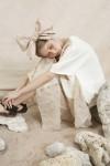 AAYLA DRESS WHITE / CREAM