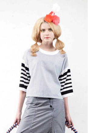 HELGA TOP BLUE STRIPES