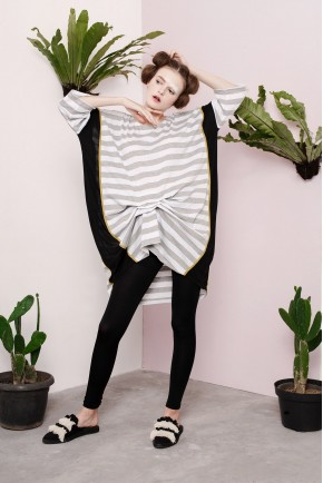 ARUM DRESS GREY STRIPES