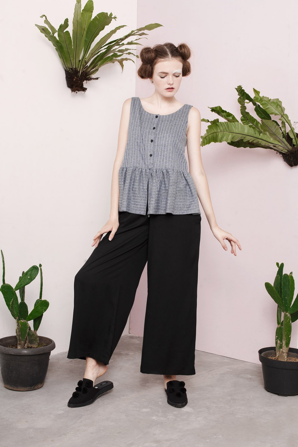SCILLA JUMPSUIT GREY STRIPES