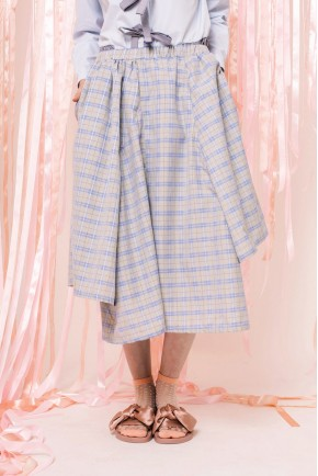 ORIANNE SKIRT BLUE CHECKS