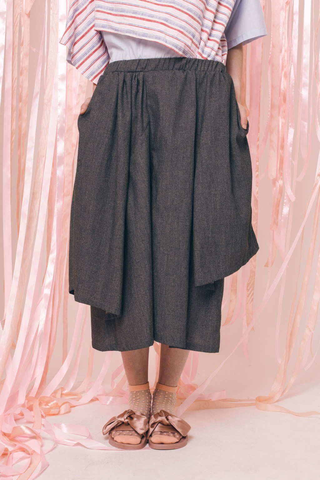 ORIANNE SKIRT DARK GREY