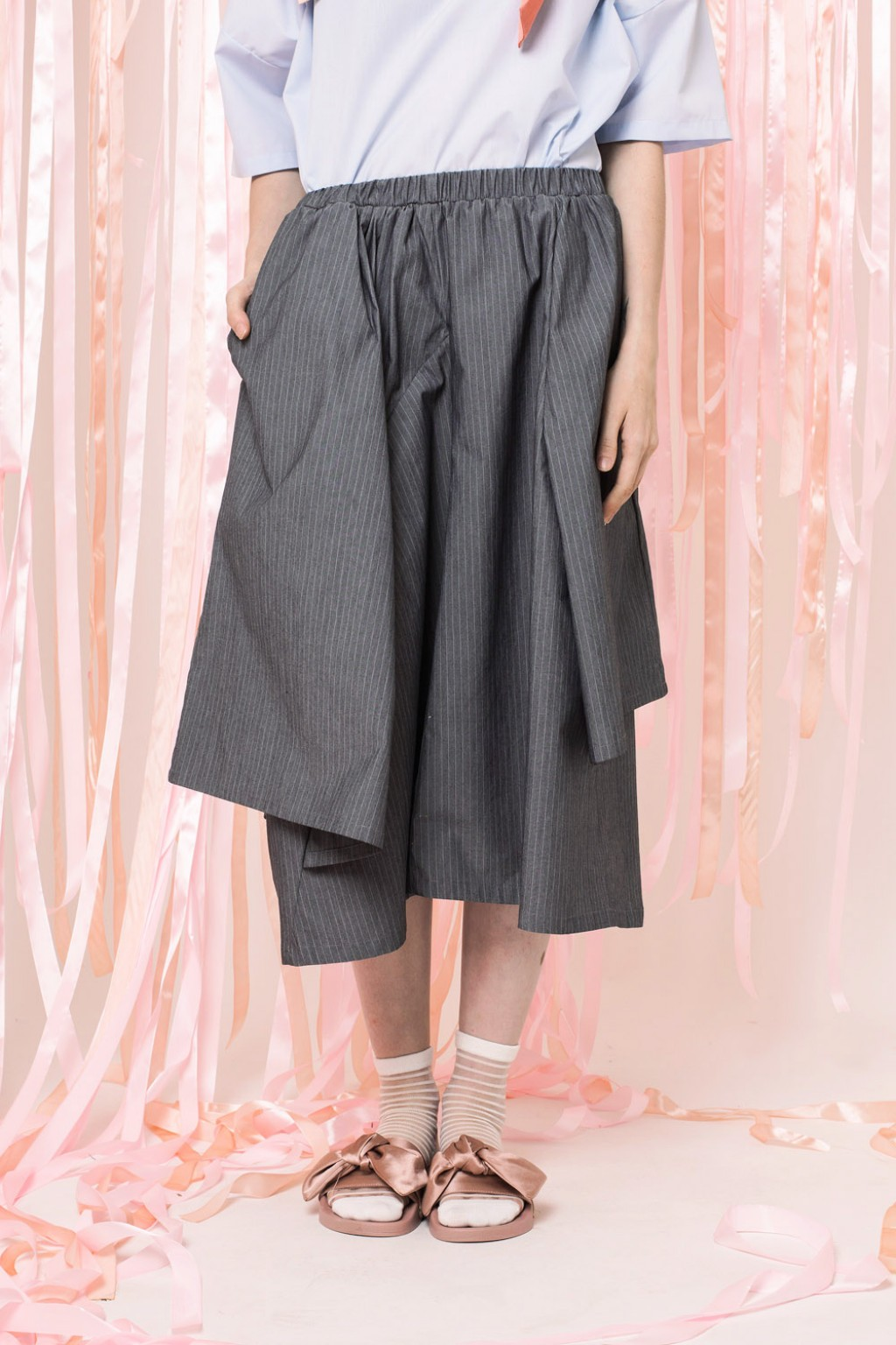 ORIANNE SKIRT GREY STRIPES