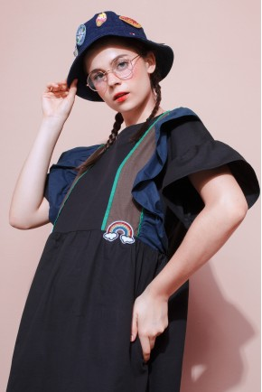 OLATHE DRESS TRICOLOR