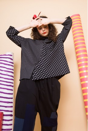 JUNE SHIRT BLACK POLKADOTS