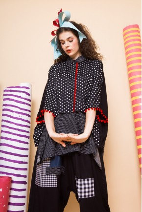 DIMA SHIRT BLACK POLKADOT