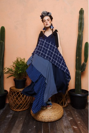 ALETIA DRESS NAVY