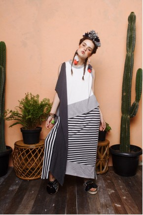 ORINA DRESS LIGHT GREY