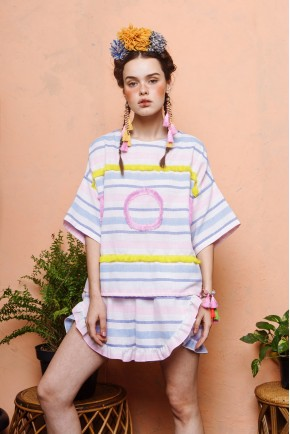 ANICA TOP PINK / YELLOW