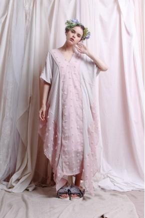 CHRISSY DRESS CREAM / PINK