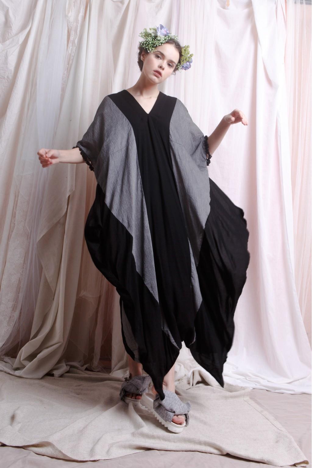 CHRISSY DRESS BLACK / GREY