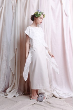 SAFFRON DRESS WHITE