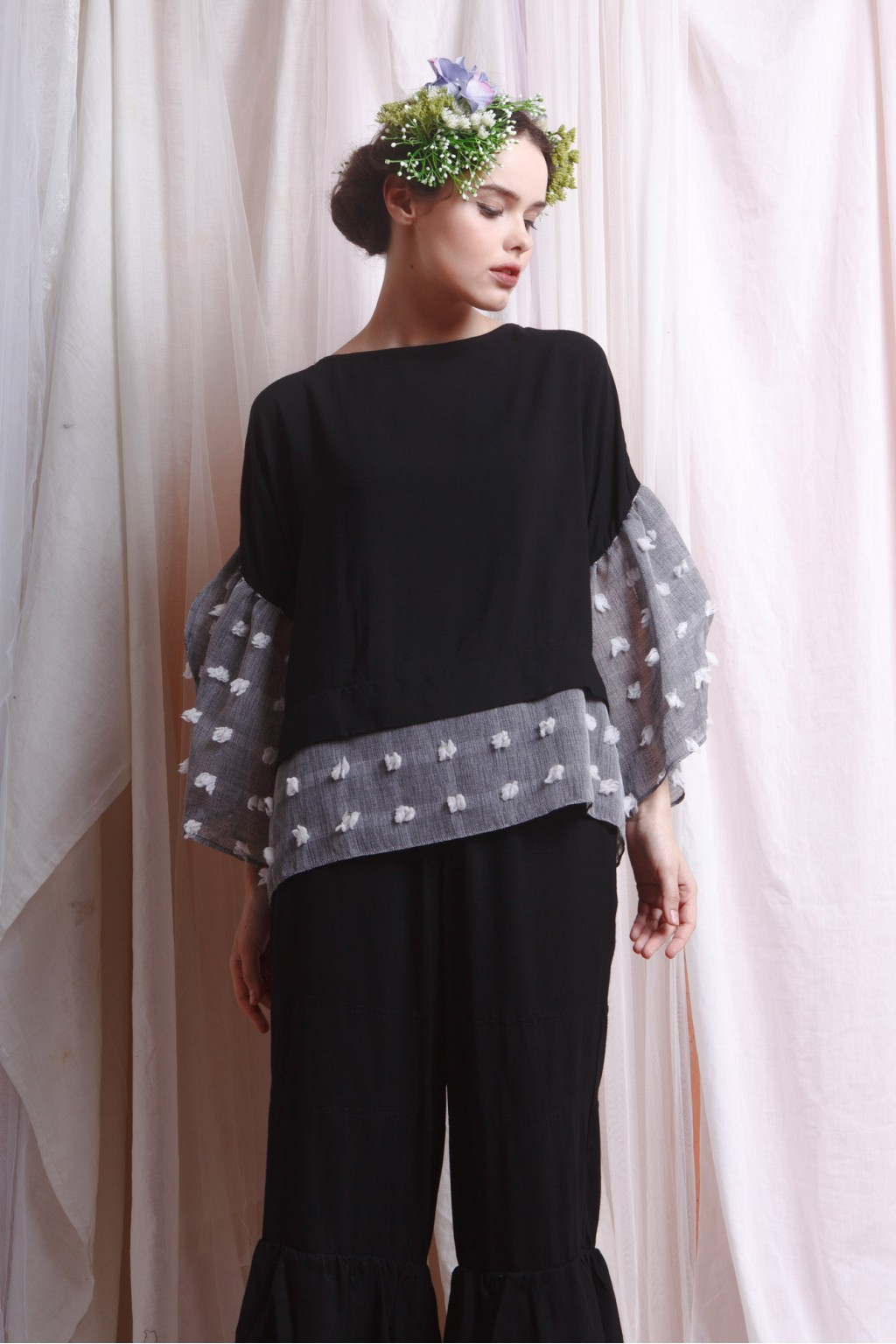 AMANI TOP BLACK / GREY