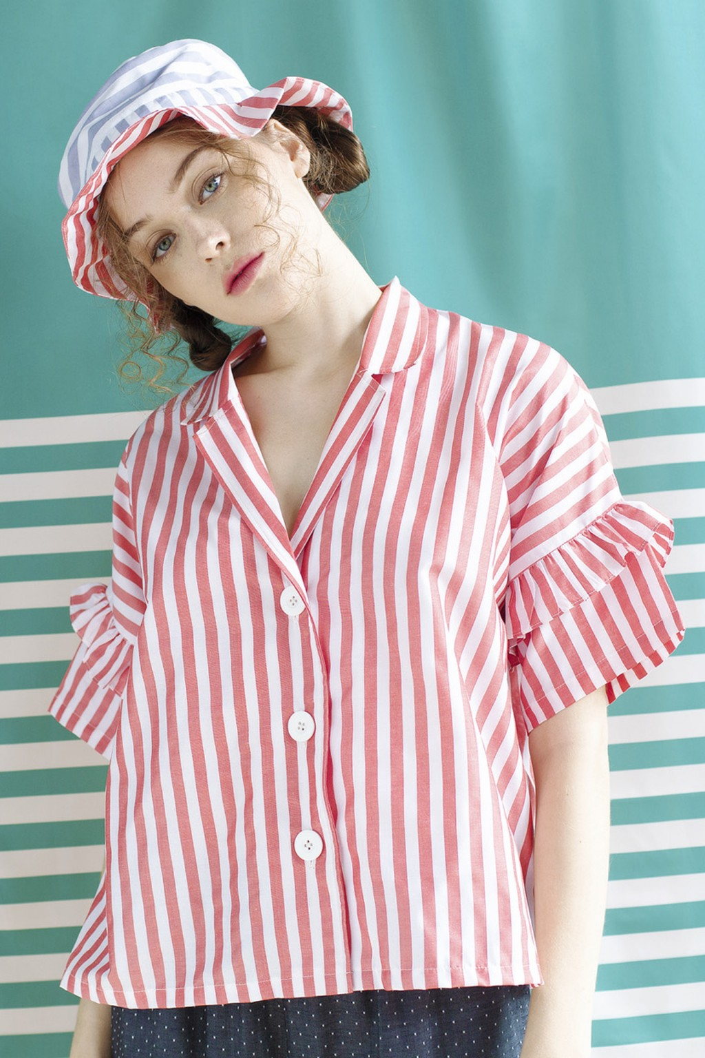CHIA SHIRT RED STRIPES