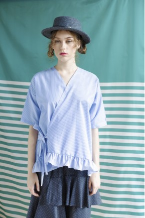 FONIO TOP LIGHT BLUE STRIPES
