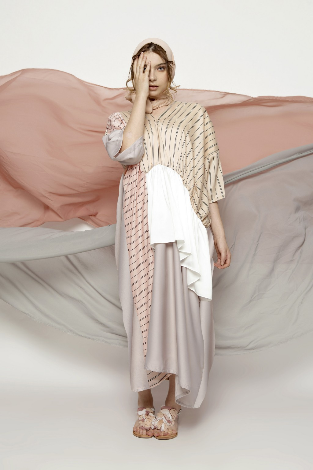 YARA DRESS PINK STRIPES / CREAM STRIPES