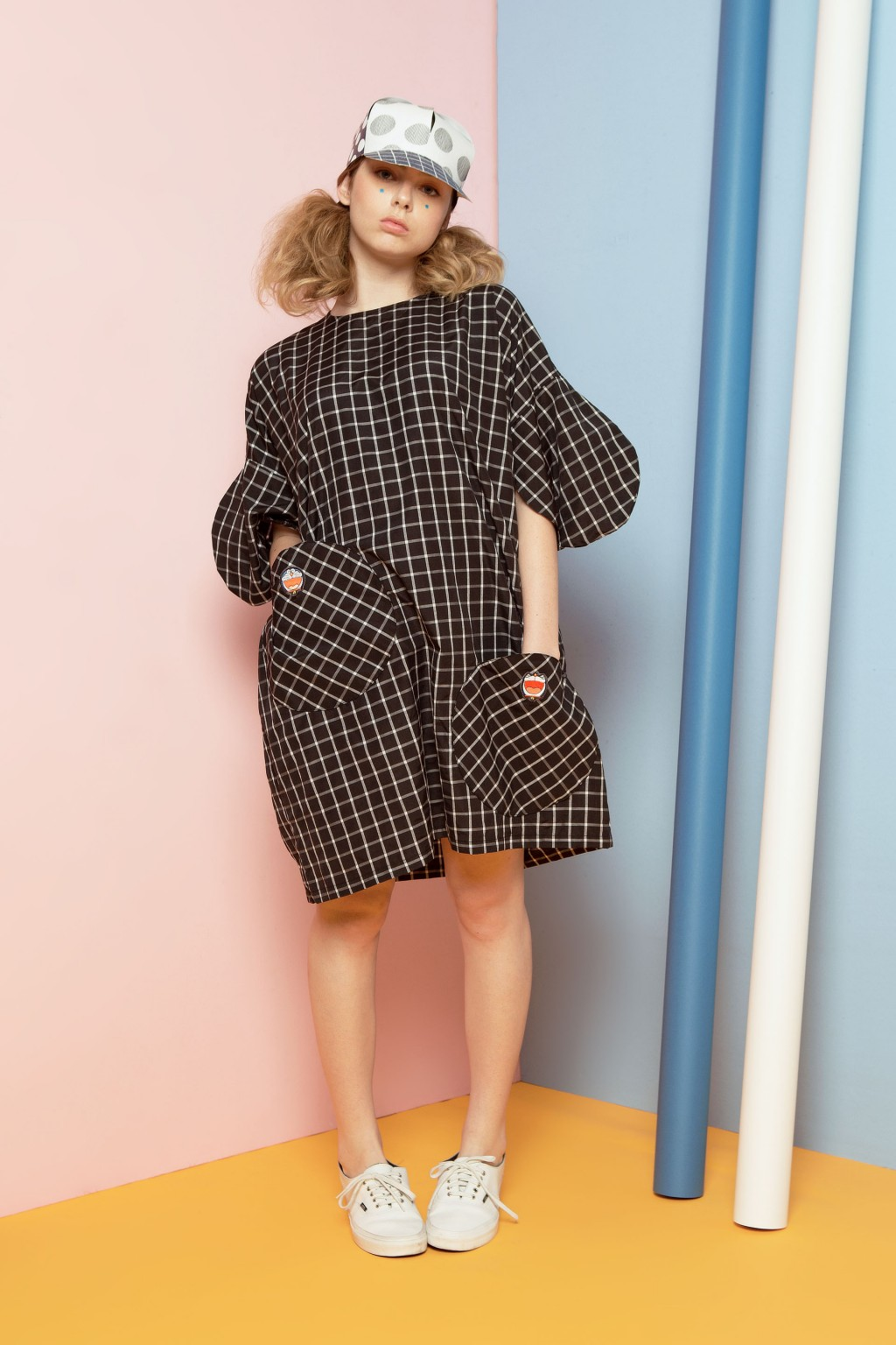 DORA DRESS BLACK CHECKS