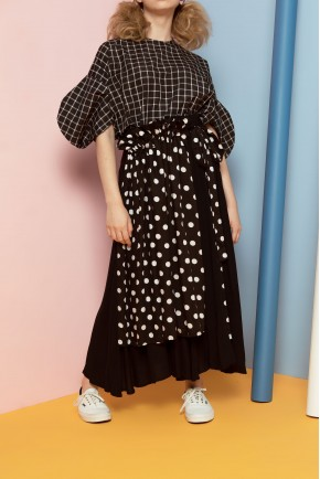 NOBI PANTS BLACK POLKADOT