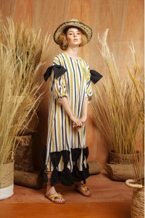 CLARE DRESS YELLOW STRIPES