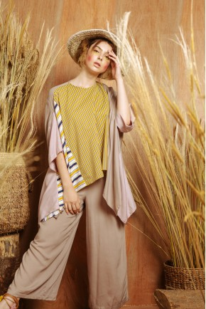 JANE TOP YELLOW STRIPES / BEIGE