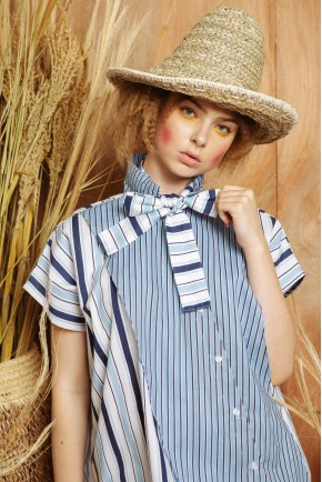 EMILY TOP BLUE STRIPES