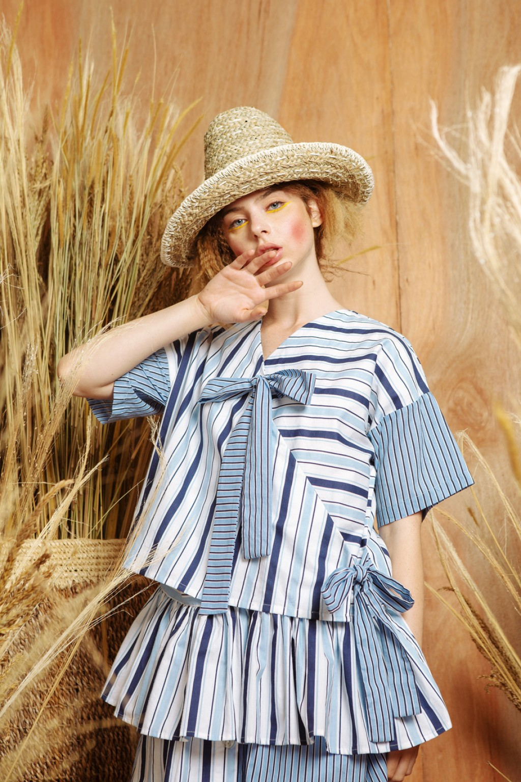 ELSIE TOP BLUE STRIPES