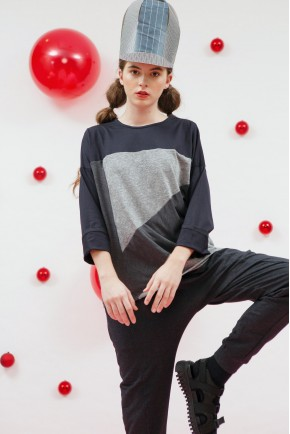 NINA TOP DARK GREY