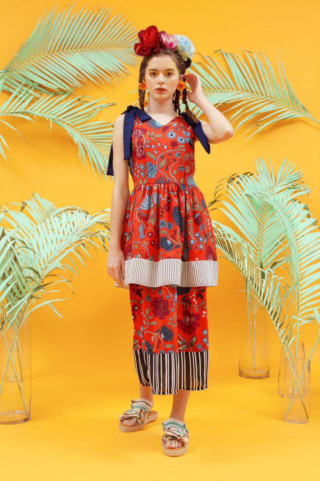 CLAUDIA DRESS RED FLOWER