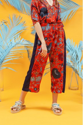 SELMA PANTS RED MOTIF