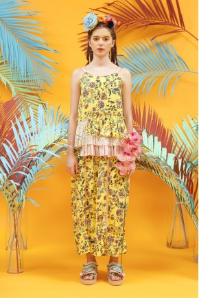 ALEJA DRESS YELLOW FLOWER