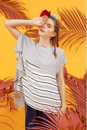 SELMA TOP WHITE STRIPES
