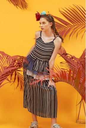 ALETA DRESS BLACK STRIPES
