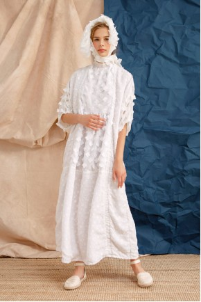 SANAZ DRESS WHITE