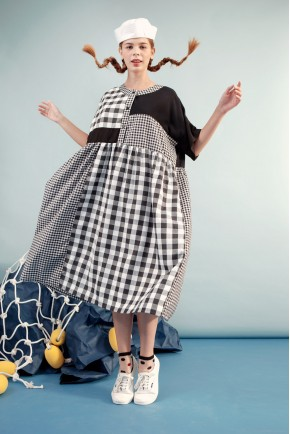 TANJA DRESS BLACK CHECKS