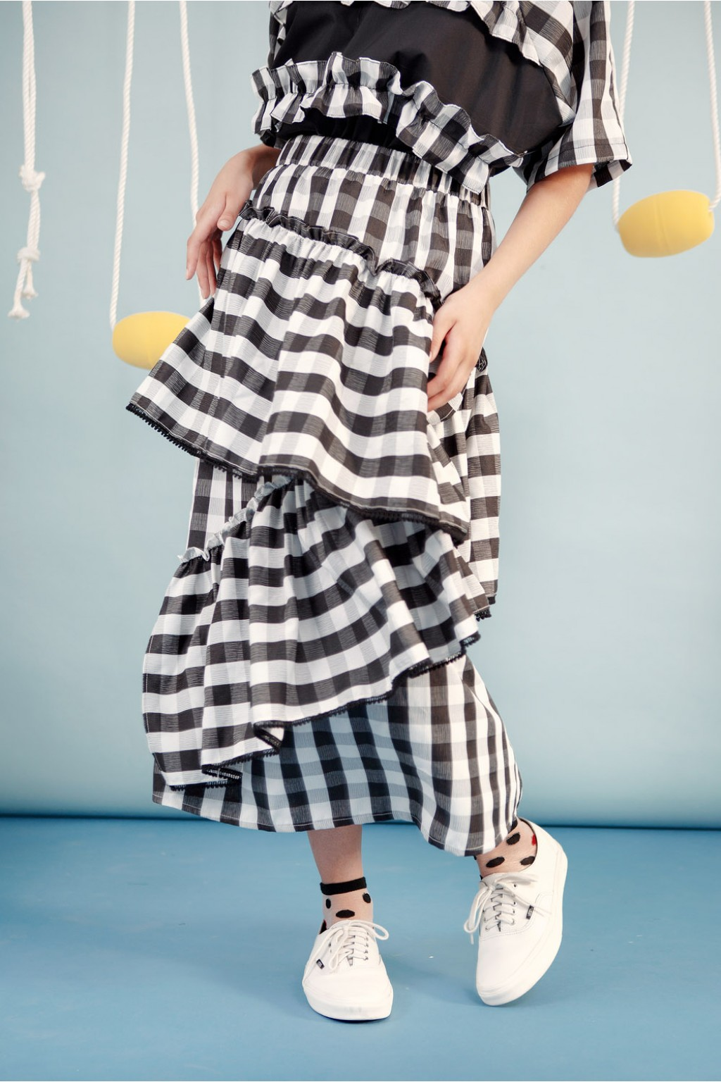 BIRGIT SKIRT BLACK CHECKS